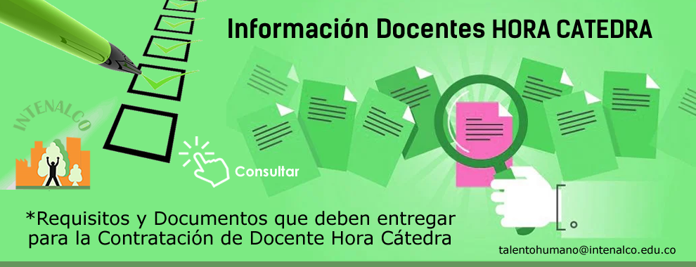 Requisitos y documentos a entregar - docentes hora cátedra